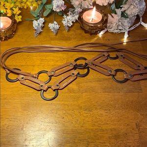 Leather/Metal Express Belt Size Medium
